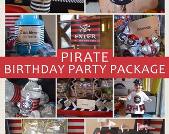 Pirate Party Package // Personalized // Printable DIY