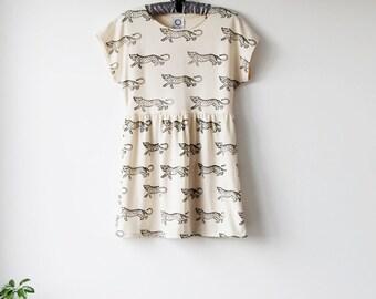 Leopard Dress in Bone Jersey