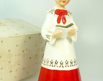 Vintage Schmid Japan Choir Boy Figurine Musical Original Box