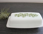 Pyrex Spring Blossom green compatible butter dish