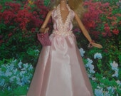 Barbie Pink SilkyEvening Gown with Accessories