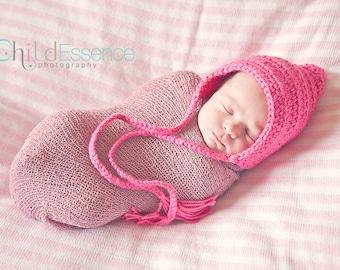 Newborn Baby Girl Hat Newborn Girl Hat Newborn Hat Hot Pink Pixie Baby Hat Pixie Elf Baby Hat Whimsical Photo Prop Newborn Photography Prop