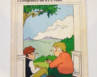 """1976 First Edition """"You're Never Too Old for Nuts and Berries"""" a Doonesbury Book By G.B. Trudeau"""