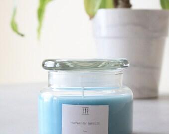 Three Silent Trees | Hawaiian breeze soy candle | small apothecary jar