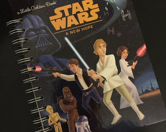 Star Wars A New Hope Little Golden Book Recycled Journal Notebook