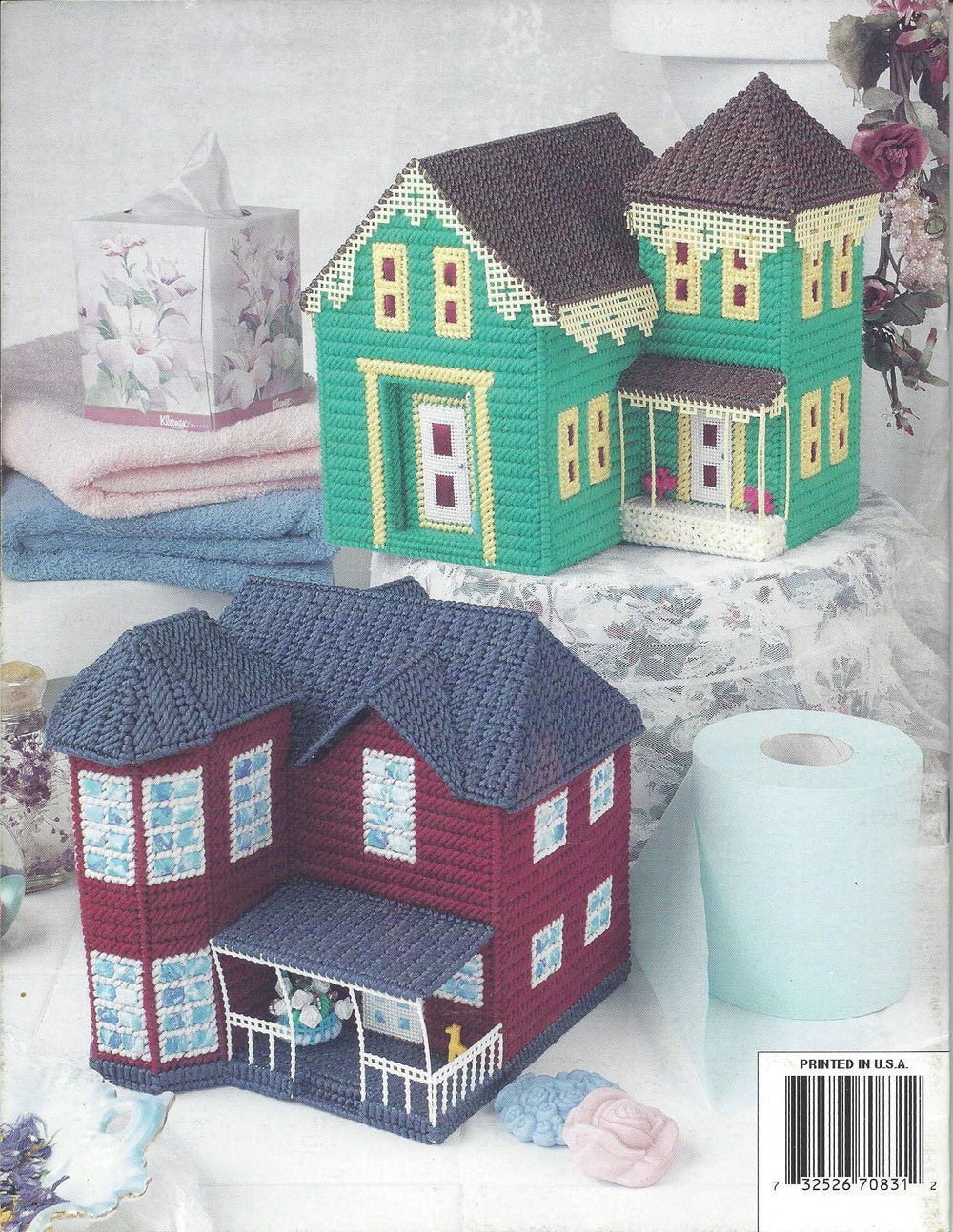 Plastic canvas pattern book victorian house tissue covers for House of patterns