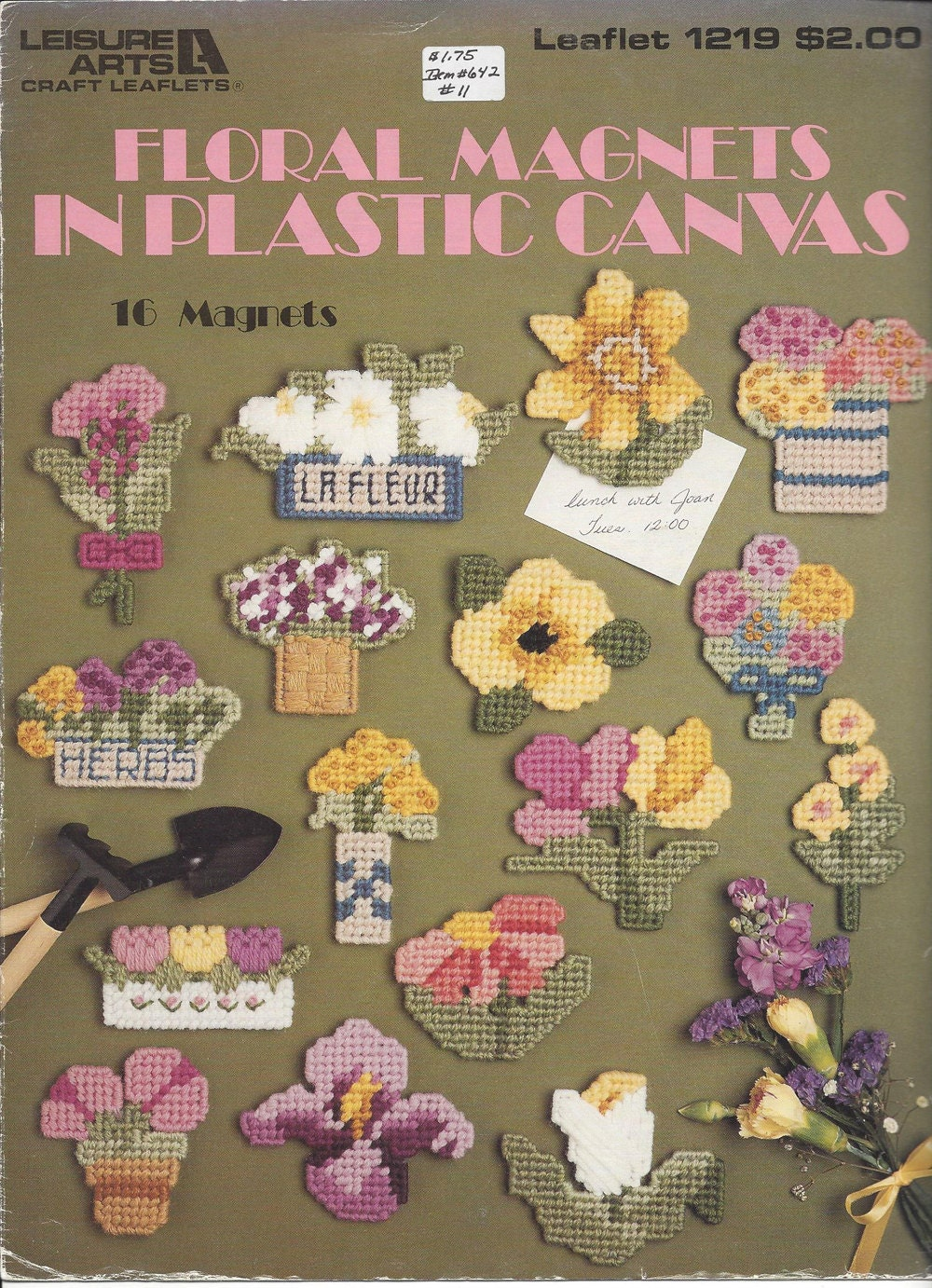 plastic canvas pattern floral magnets leisure arts 1219