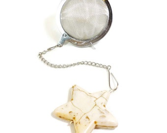 Tea Infuser with Ivory Star Charm