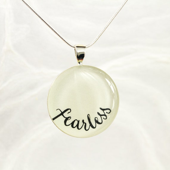 fearless necklace inspirational jewelry layering necklace