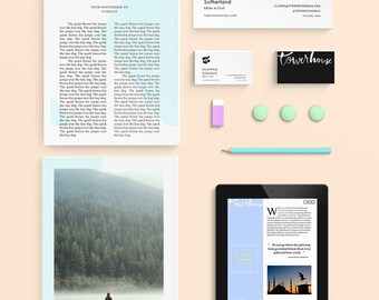 towerhouse - Brand and identity – Print and Digital Collateral for editorial project