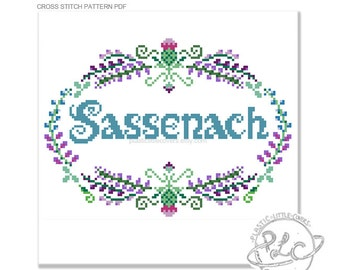 Sassenach. Outlander Inspired Sampler Pattern. Digital Download PDF.