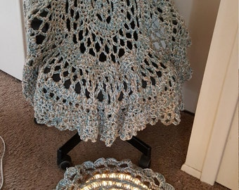 shawl and lighted throw rug