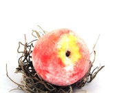 Peach Fruit Soap. Handmade. Wedding favor  Soap Art