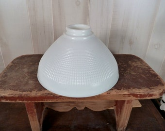 """Corning Milk Glass Shade Diffuse Torchiere Waffle 10 """""""