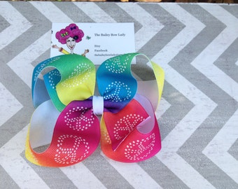 Peace Sign Boutique Hair Bow