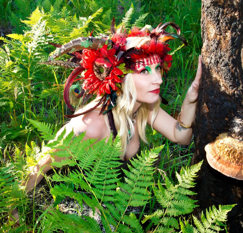 Horned Feather Headdress Horned Headdress Flower
