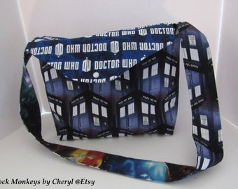 Doctor Who TARDIS Outer Space Galaxy Purse Whovian Fabric Bag