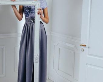 Mist sonata -  Maxi dress / Grey long dress