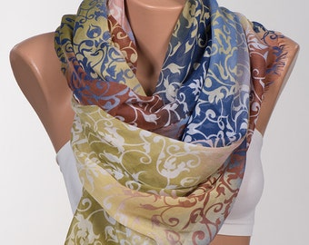 NEW Season Long Scarf. Scarf Neck wrap. Valentine's Scarf. Fall Autumn Colorful Scarf.