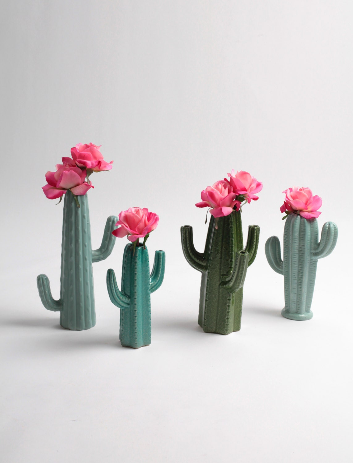 cactus vase small seafoam green cactus bud vase white faux. Black Bedroom Furniture Sets. Home Design Ideas