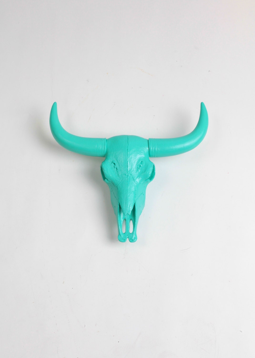 animal skull in turquoise resin bison skull head by white. Black Bedroom Furniture Sets. Home Design Ideas