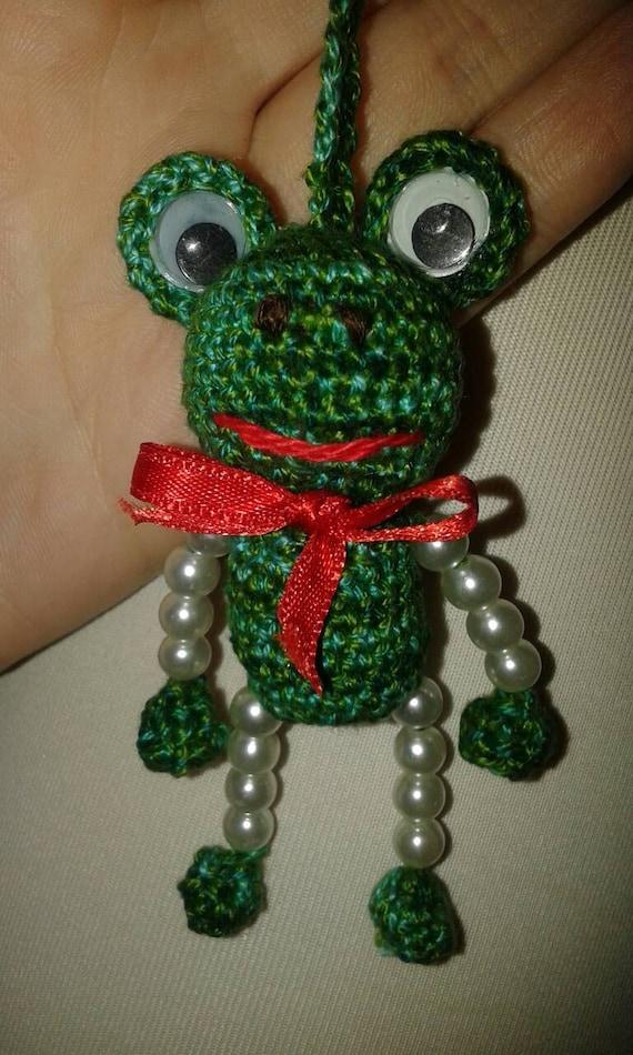 Crochet Keychain : Crochet keychains, Crochet Keychain Frog, crochet frog, Crochet ...