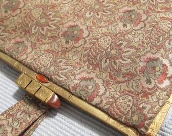 Parisian FRENCH Art Deco Opera Evening Elegant Bag of Metallic Silk Woven Thread/ Exquisite Elegant Rare/ Exceptional Textiles of the 1930's