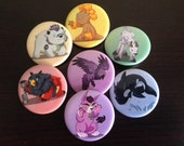 Druid Babies Buttons - Full Set of 7 Buttons