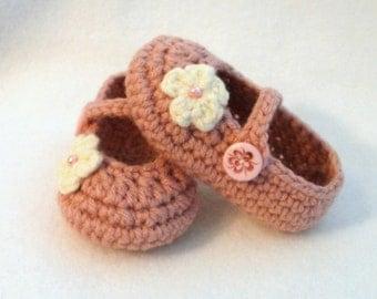 Crochet Baby Booties Pink Baby Booties Pink Crochet Booties Baby Girl Booties Pink Baby Girl Booties