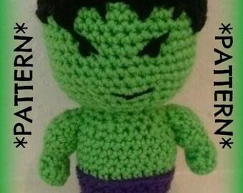 "PATTERN ONLY - Crochet Plush ""Hulk Smash"""