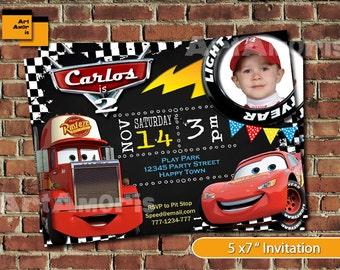 cars invitation, disney cars Invitation, lightning mcqueen birthday invitation, Mcqueen birthday Invitation, radiator spring, cars mack TF-9