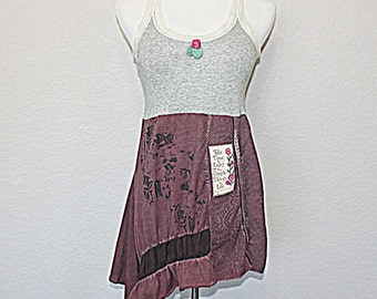 Juicy Couture Upcycled Lace Tank Top Women's Junior's Boho Chic Fashion Free Spirit Clothing Size Small Medium