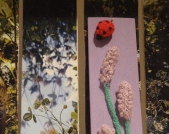 Ladybugs and Lavender's flowers wall hanging home decor