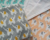 Organic, Cotton, Flannel, Fitted Sheet, Mini Co-Sleeper, Co-sleeper, Pack n' Play, Mini Crib, Elephant in the Room, Coral, Turquoise, Gray