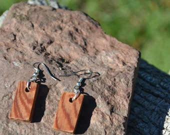 Redwood Pendant Earrings