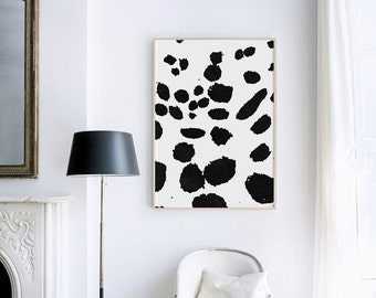 Black and White Bold Dot Wall Art