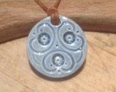 Essential Oil Pendant Diffuser Pendant Denim blue Aromatherapy Jewellery  Handmade in UK - buy 2 get 1 free