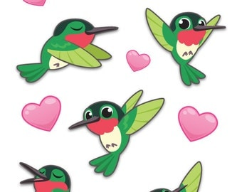 Hummingbird Sticker Sheet