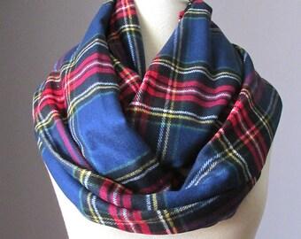 Tartan scarf, plaid scarf, blanket scarf, oversized winter scarf, infinity scarf
