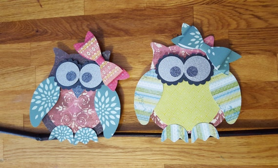 Items similar to 4 pc 3d owl paper cut outs owl paper for Room decor embellishment art 3d