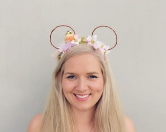 The Meadow | Whimsy Mouse | Handmade mouse ears | floral headband | country chic |