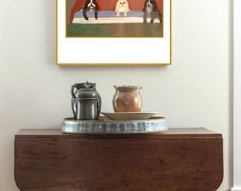 Original art: THREE PUPPIES