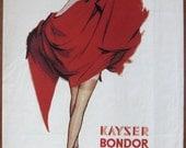Kayser Bondor, 1955, vintage, ad, original, nylons, fashion, English, woman, stockings, advertisement, free shipping, paper, ephemera