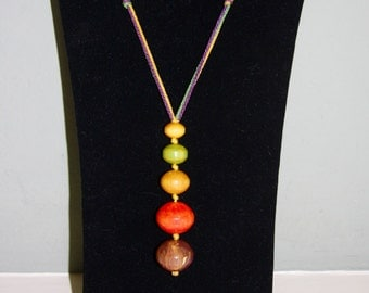 Multi Colored Graduated Size Bakelite Bead Necklace-1920s Collectible-Unusual