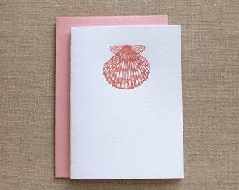 Shell Letterpress Card Set