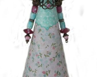 Assemblage Art Doll, Frozen Charlotte, Altered Art Doll, Assemblage Art, Princess Sara