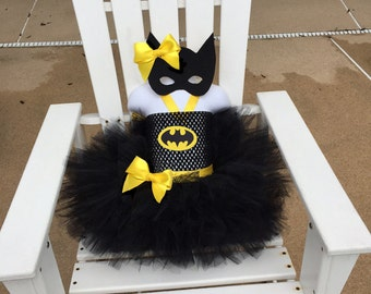 THE GABBY - Bat Girl tutu set, batman costume, bat girl costume, toddler bat costume