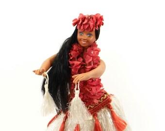 Hawaiian Hula Dancing Doll Battery Operated - Spins Around While Dancing The Hula - Hawaiian Collectible - Vintage Doll