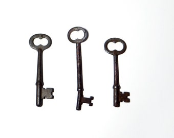 Antique Skeleton Keys - Industrial Primitive Keys - Steampunk