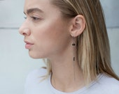 Long Black Earrings-Delic...